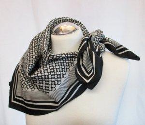 Vintage Halsdoek zwart-wit Polyester