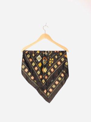 Vintage Fazzoletto da collo marrone-nero-bianco sporco