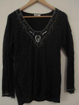 Vintage Tunika oder Longsleeve mit Perlenstickerei , Größe s passt einer +- 38
