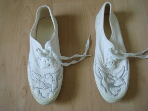 Lace Shoes white-light grey cotton