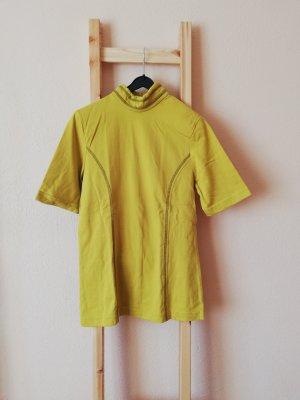 Vintage Turtleneck Shirt lime yellow