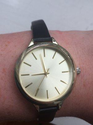 Vintage Uhr schwarz Retro Blogger