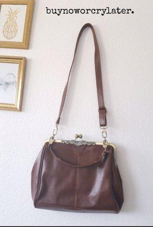 Vintage Umhänge Tasche Bag Braun Romantisch