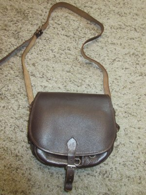 Vintage Umhängetasche aus echtem Leder