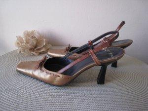 Vintage Unisa Sling Pumps zum schweben weiches feinstes Leder 50ziger Originale