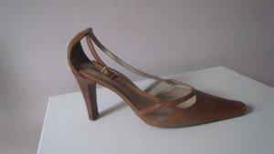 Vintage Unisa Spain Softleder Schühchen Natur Nude Elegant & Edel Top Zustand