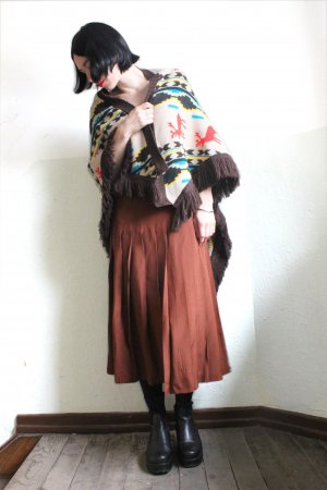 Vintage Urban Outfitters Fringed Day Mons Deer Poncho Cape