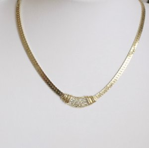 Vintage Collier Necklace gold-colored
