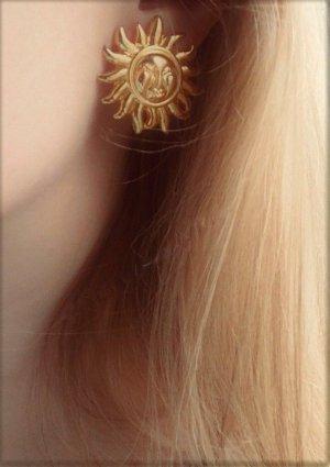 Versace Pendientes de clip color oro