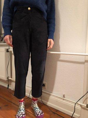 VERSUS Versace Pantalón de cuero azul