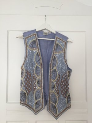 Alba Moda Vest azure-cream cotton