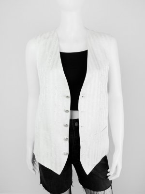 Knitted Vest natural white viscose