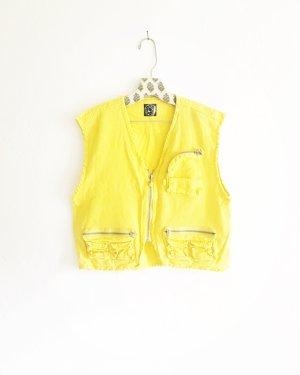 vintage weste / yellow / gelb / 90s