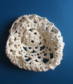 Vintage Knitted Hat white