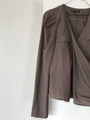 Traffic people Wraparound Blouse light brown