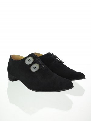 Vintage Wildleder Loafers in Schwarz 41