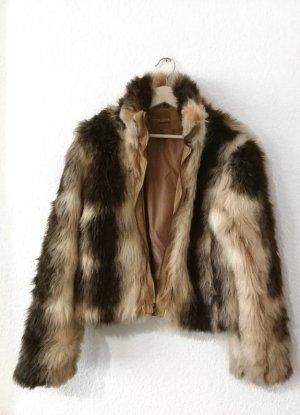 Vintage Winter Felljacke fake fur Plüschjacke 70er Retro