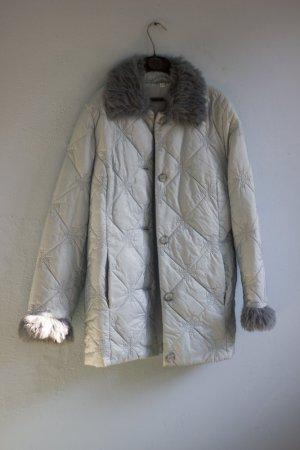 Vintage Winterjacke Mantel Schneeflocken Kunstfell