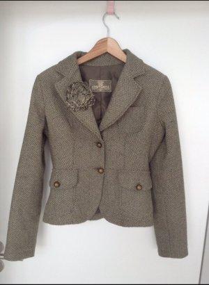 Zara Blazer de lana gris verdoso-color oro