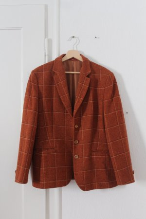 Wool Blazer dark orange-cognac-coloured