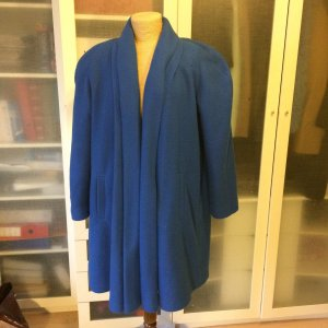 Vintage Woll Mantel Gr. 38 royalblau top
