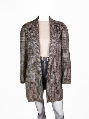 Vintage Woll-Mantel im Glencheck-Muster
