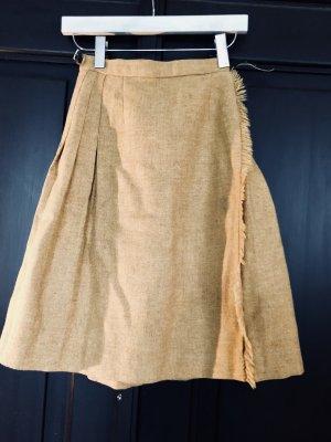 Vintage woll wickel faltenrock 36