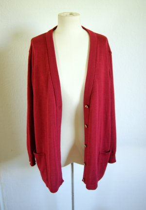 Vintage Wollcardigan bordeaux, oversized Jäckchen weinrot Schurwolle, grunge blogger alternative