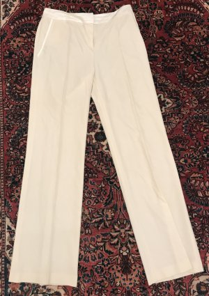 Georges Rech Woolen Trousers natural white wool