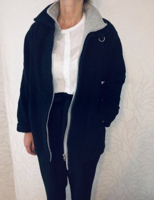 Vintage Veste en laine noir-gris clair