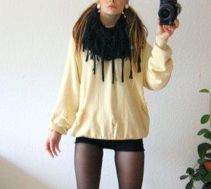 Vintage Wollpullover gelb, oversized Pullover Seide Kaschmir destroyed