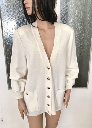 Lucia Knitted Vest white mixture fibre