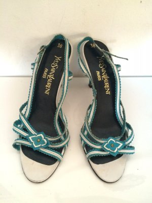 Vintage YSL Yves Saint Laurent Riemchen-Pumps Gr.38