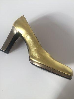 Vintage Yves Saint Laurent Pumps Gold 39  für Party Looks mit Glamour und  Stil