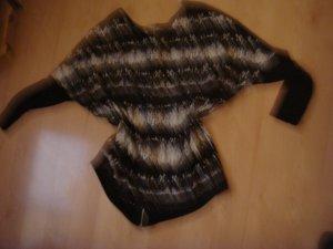 Vintage -  Zara Shirt Pulli schwarz grau Gr. 42 bis 46