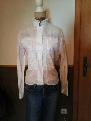 Nadine H. Cuello de blusa blanco