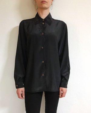 Vintage Kanten blouse zwart
