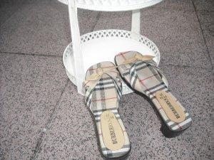 VintageClogsSandalenPantolettenShoes im Canvas CheckBurberry Stil37gebr.