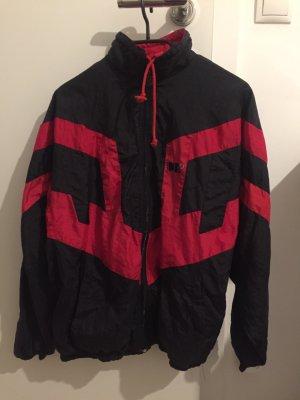 Vintage Bomberjack zwart-rood