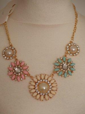 Collar estilo collier multicolor Material sintético