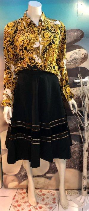Plaid Skirt black-gold-colored