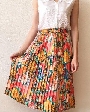 Vintage Jupe à plis multicolore