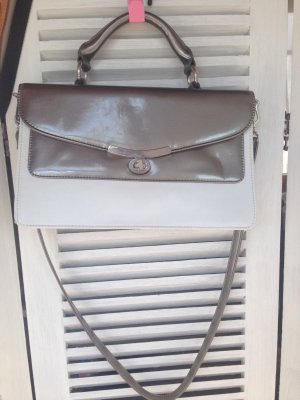Zara Shoulder Bag white-silver-colored imitation leather