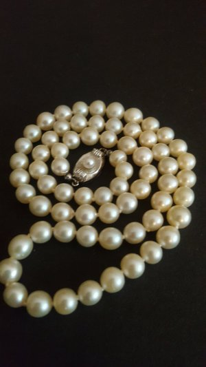 Pearl Necklace silver-colored-natural white