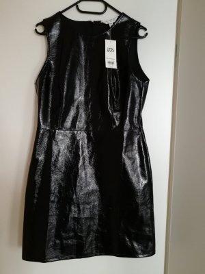 Miss Selfridge Leather Dress black