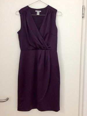 Violet Satin Kleid von H&M
