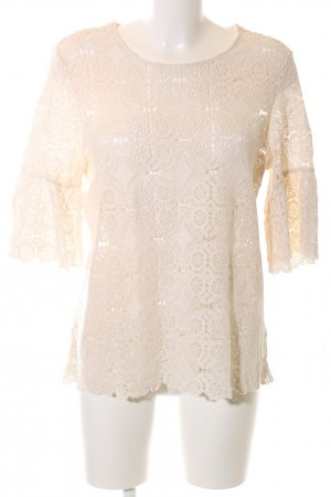 Violeta Crochet Shirt cream elegant
