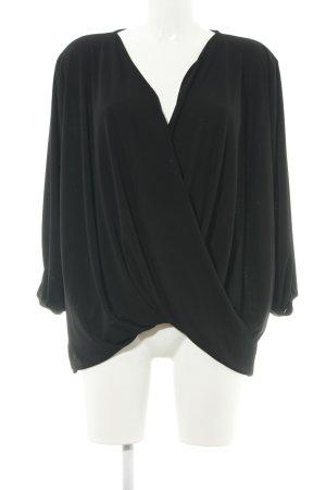 Violeta Langarm-Bluse schwarz Elegant