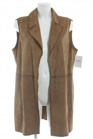 Violeta Leather Vest light brown classic style
