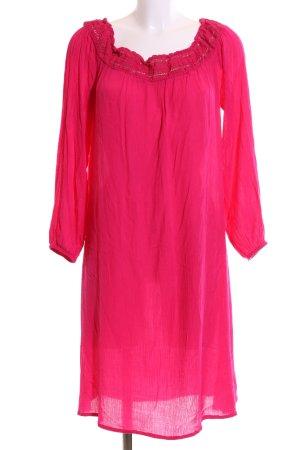 Violeta schulterfreies Kleid pink Casual-Look